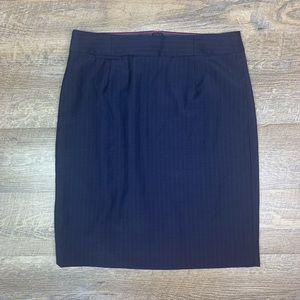 J. Crew Pencil Skirt 6 Navy Stripe Original Fit